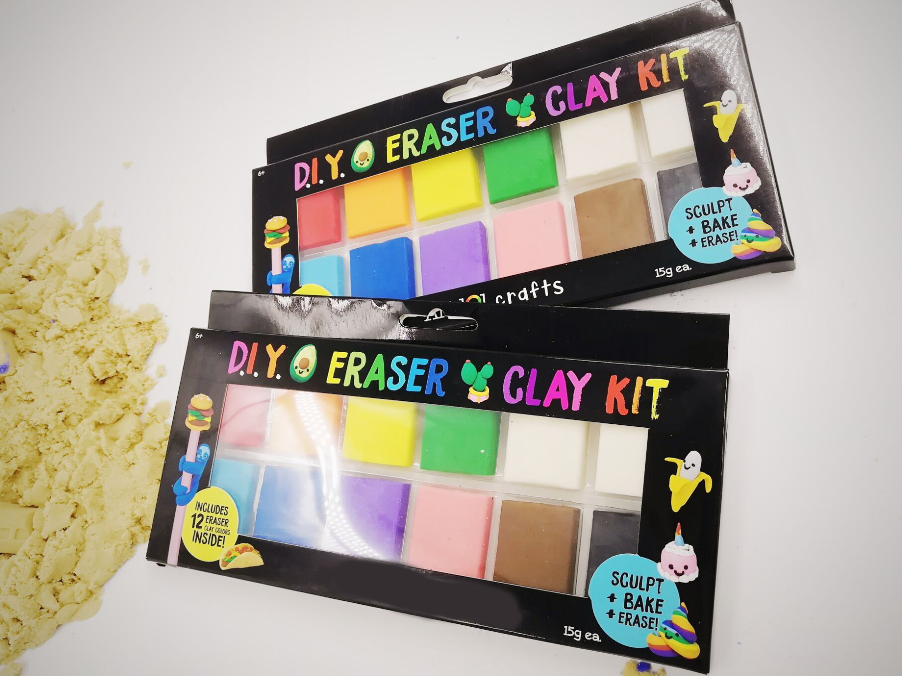 Eraser DIY modeling baking clay